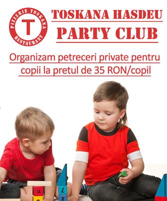 Organizam petreceri private pentru copii la pretul de 35 RON/copil